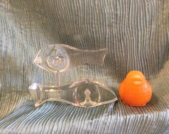 """LUCITE FISH SCULPTURE, Astrolite Sculpture, Fish Sculpture, Acrylic Fish, Mid Century Modern, Abstract, 10""""  by 7""""  approx, at Modern Logic"""