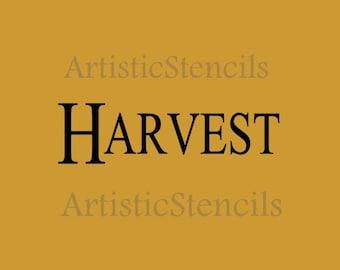 STENCIL  Harvest 10X3