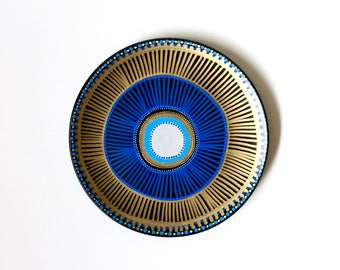 Blue Ornament Evil Eye - Blue Evil Eye Decor- Blue Wall Evil Eye - Blue Wall Decor - Original Blue Evil Eye -