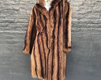 Art Deco 20s Raccoon Fur Coat  small medium