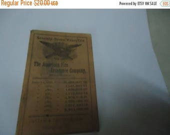 Ephemera & Books 50% Sale Antique 1887 The American Fire Insurance Company Of Philadelphia Notepad Booklet With Calendar, collectable