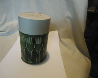 Vintage King Seeley Green  Thermos 10 oz Made in USA, collectable