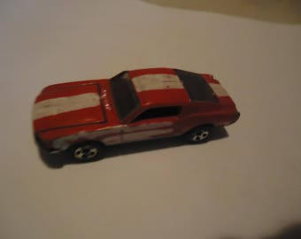 Vintage 1968 Hot Wheels Red With Stripe Toy Car By Mattel, Made In Thailand, collectable,