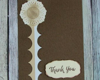 Brown and Cream Handmade Thank You card--CB81217-31