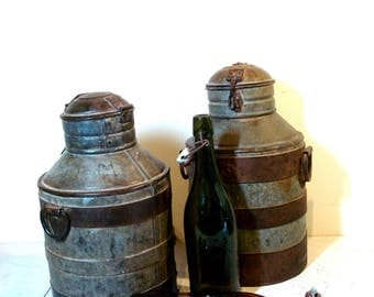 Fantastic Vintage European Iron and hand forged  Milk Can
