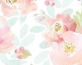 Mädchen Krippe Bettwäsche Blush Mint Boho wechselnden Kissen-Abdeckungen / böhmische Blumen Kinderzimmer Baby Bettwäsche /Mini Krippe Blätter rosa / Mädchen Kinderbett Bettwäsche