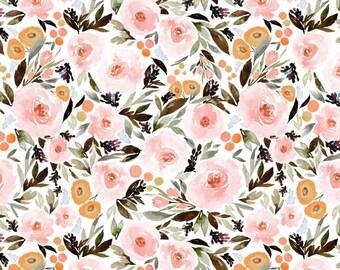 Girls Crib Bedding Pink Black Boho Changing Pad Covers / Bohemian Floral Nursery Baby Bedding /Mini Crib Sheets Pink / Girls Cot Sheets