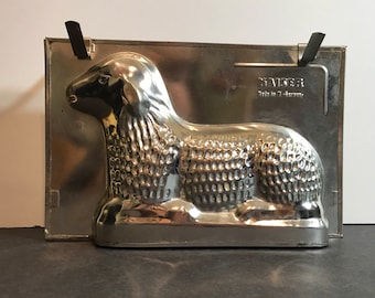 Vintage Lamb Mold by Kaiser made in W Germany 1950's metal mold for cake, chocolate, butter
