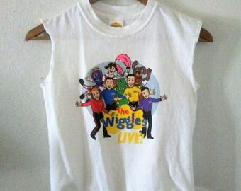 The Wiggles TShirt / Crop Top / Cropped / Muscle Tee / Graphic Shirt / Distressed / Indie / Grunge / Rocker / Music Festival / Funny Tee