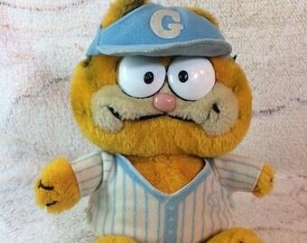 15% OFF Vintage 1981 Baseball Garfield Plush Stuffed Animal Bean Bag Plush 80s Kids Toys