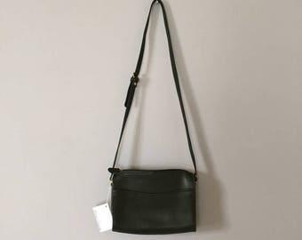 25% OFF SALE... forest green leather bag | vintage messenger purse
