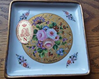Vintage Limoges Square Dish