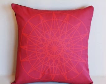 SALE SALE SALE Throw pillow for couch Geometric decorative pillow cover,  16x16.  geo print 04