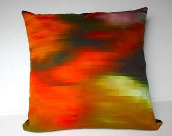 "SALE SALE SALE Fall colors, autumn colours, Decorative pillow throw cushion eco friendly organic cotton cushion  16"" cushion cover, 40cm pil"