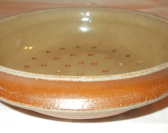 Antique French Farmhouse Pottery, Fruit Strainer, Vegetable washer, Strainer, Passoir, Sink strainer, Mould  (7153s)