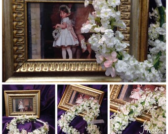 Princess Charlotte Artificial Baby's Breath Floral Crown & Flower Girl Heart, Pippa Middleton Wedding Flowers