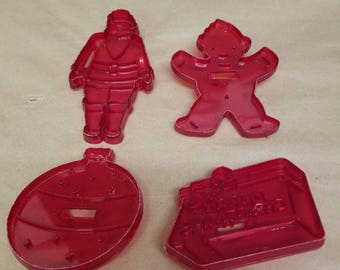 Set of 4 Vintage Christmas Cookie Cutters