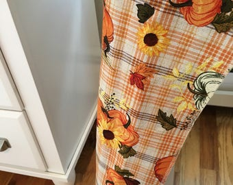 Thanksgiving Tablecloth | Fall Tablecloth | Thanksgiving Overlay | Rustic Fall Decor | Thanksgiving Table Decor | Thanksgiving Table Runner