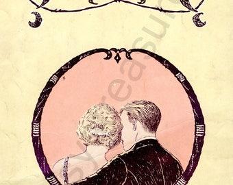 "Digital Ephemera for Collage, Scrapbooking and Cardmaking - ""Whispering "" Instant Download - Vintage Inspired Illustration"