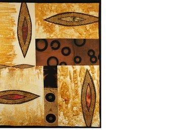 Handmade Art Quilt - Form #3