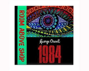 Nineteen Eighty-Four 1984 Book Lover Tile by artist Heather Galler dystopian novel English author George Orwell Big Brother