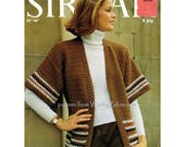 Ladies loose edge to edge crochet cardigan jacket Vintage Crochet Pattern PDF 813 from WonkyZebra