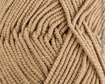 Knit One Crochet Too Nautika Cafe Au Lait, Worsted Yarn, Aran Yarn, Beige yarn, Blanket Yarn, Couch Throw Yarn, Machine Washable Yarn