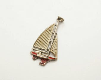 Vintage Enamel/Metal Sailboat Charm