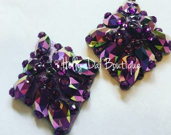 Purple Oil Slick BURLESQUE couture pasties