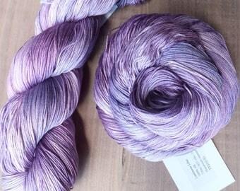 Luminous Lilac - Hand Dyed Silk Heavy Lace Yarn