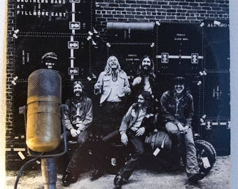 "ON SALE Allman Brothers Band Vinyl Record Album 1970s Southern Rock LP ""Live At The Fillmore East"" (1970's Capricorn re-issue w/""Whipping Po"