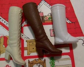 vintage unmatched barbie boots