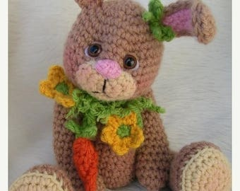 Summer Sale Crochet Pattern Bunny by Teri Crews instant download PDF format