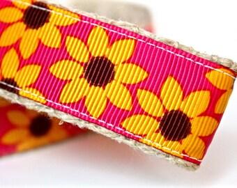 Sunflower Dog Collar