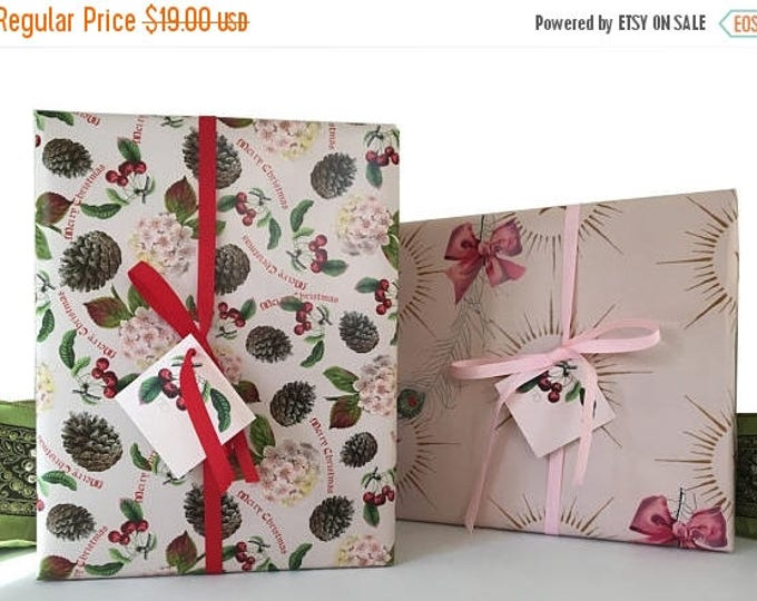 "BLACK FRIDAY SALE Christmas Fairy Gift Wrap Kit Pink Red  ""Sugar Plum Fairy"" For Girls"