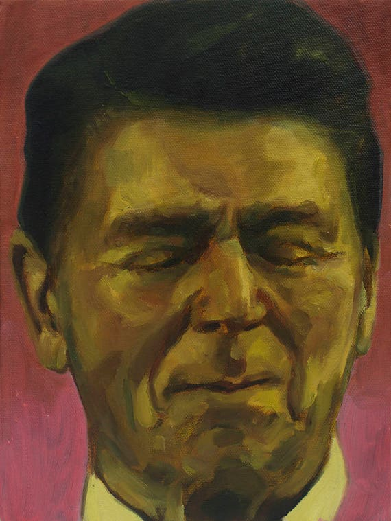 Pickled Reagan, Oil on Canvas