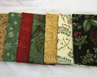 Christmas Spirit 8 piece Fat Quarter Set Moda Quilt Fabric