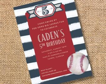 Watercolor Baseball Printable Invitation Baseball Baby Boy Shower Twins Patriotic Baseball Invite Baseball Birthday Party Classic Team Party