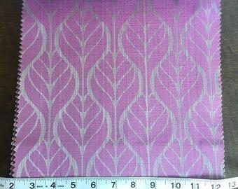 Custom Curtains Valance Roman Shade Shower Curtains in Magenta Leaf Pattern Fabric
