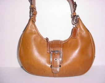 Vintage Coach brown  leather  hobo  Shoulder Bag .
