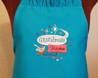 Grandma Apron - Grandma's Kitchen Ruffled Full Apron