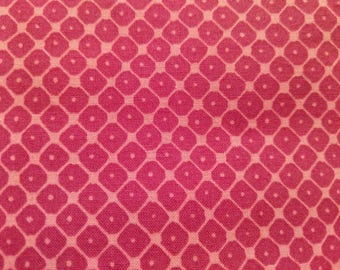 Cotton Fabric, 1/4 Yard, Fushia Pink Diamond Pattern, Quilt, Quilting, Kaufman, Valori Wells, Mystic, Pillow, Sewing, Crafts, Gift, Easter
