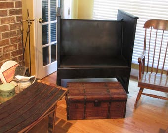 Antique Farmhouse Porch Bench Seat Church Pew with blanket chest Rochester NY
