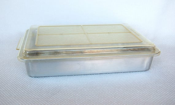 Vintage Rema 13 X 9 Air Bake Cake Pan With Plastic Snap On Lid