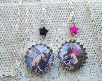 Pokémon Necklaces - TEAM SKULL GRUNTS - Glass Pokémon Trading Card Necklace- Gamer Gear - Pokemon Sun and moon - Alola - Pokemon Go