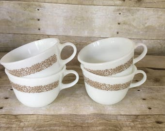 Pyrex woodlands white coffee cups