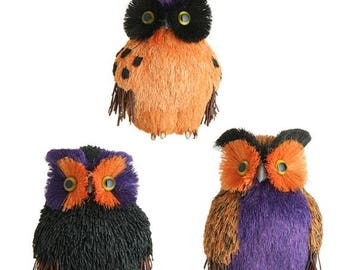 SUPPLY SALE RAZ 6 Inch Owls H3452502, Wreath Decor, Halloween Decor