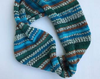 HERITAGE Hand Crafted Multi Color Wool Blend Cowl