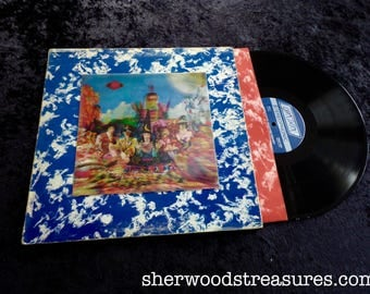 Satanic Majesties Request With Renticular Cover  LP Original  Rolling Stones Vinyl Lp Record Album Clean NM-