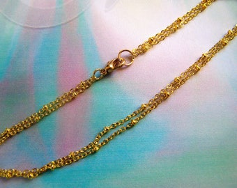 Ankle Bracelet Gold Plated Double Strand Satellite Chain Anklet